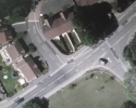 Ariel view of across road from Kirkby Police Station